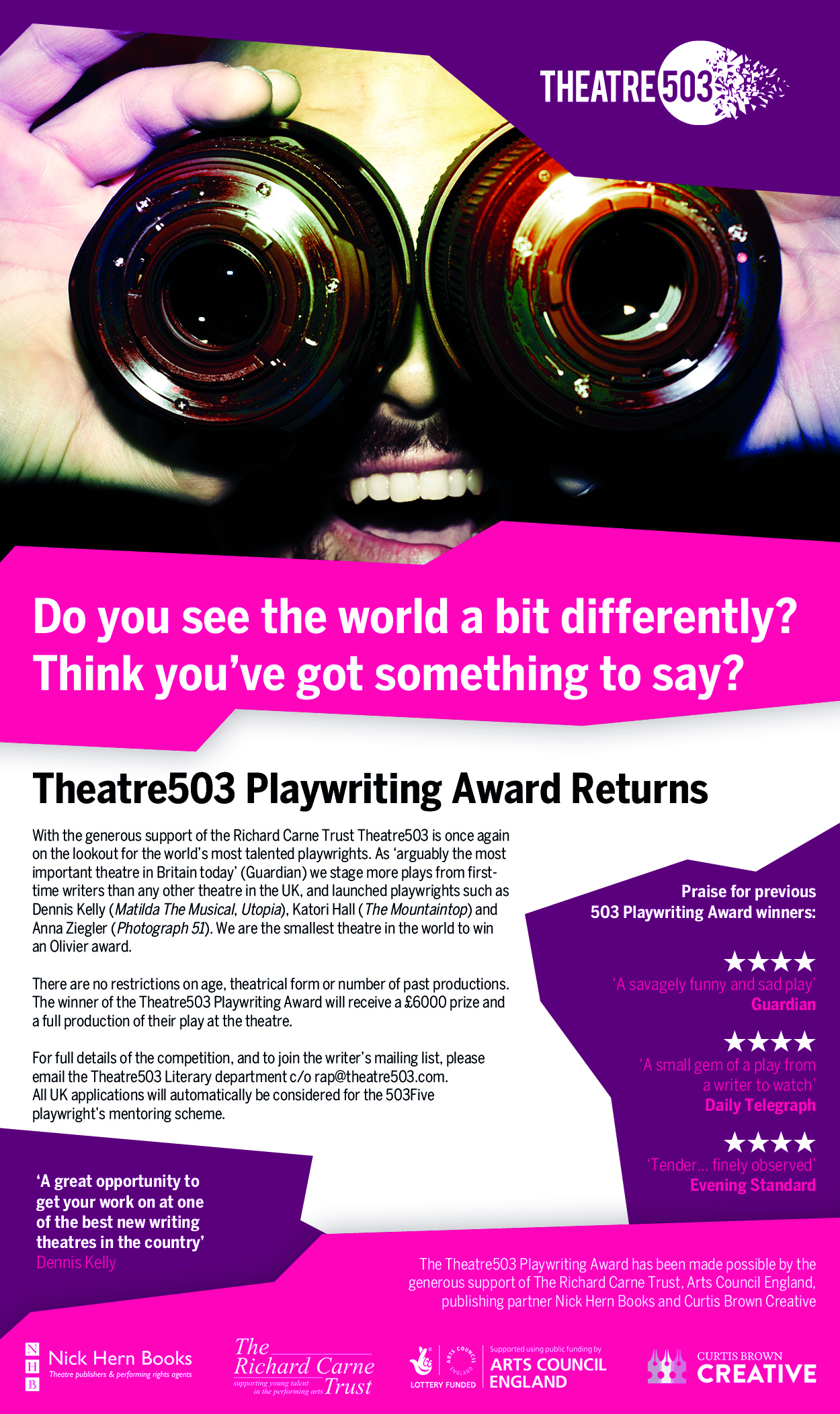 Theatre503 Playwriting Award