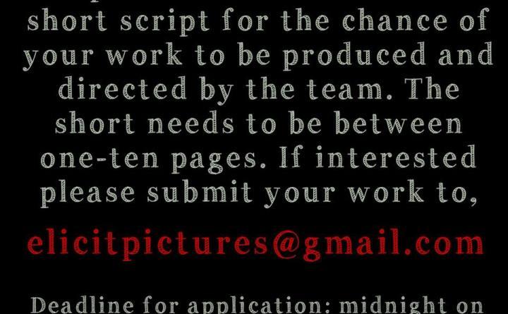 Short film scripts for Elicit Pictures