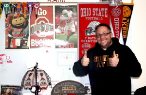 Mr. Zacariah Douglas, U.S. History teacher, loves almost everything Ohio.<br>Photo Credit: Nadia Manivong