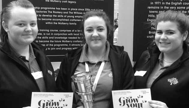 Three apprentices at Bridgewater College during National Apprentices Week
