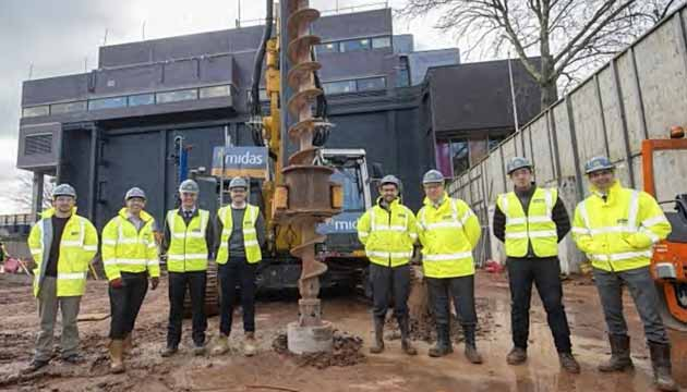 The team working on the new student residences being built on the site of the Bristol Post building