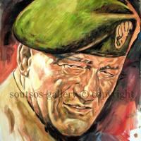 "John Wayne ""The Green Berets"" 1968- original painting portrait"