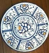 g ceramics plate florence 8