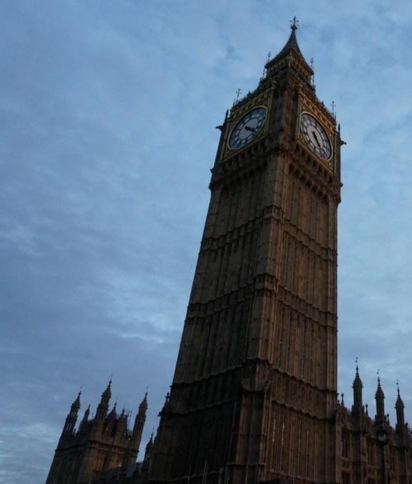 big ben london dusk