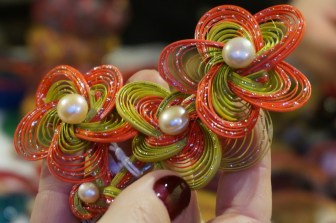 Hair accessories at Freyung, Vendor at Freyung, one of the best Vienna Christmas Markets.