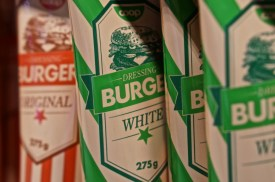 Swswedish burger dressing white