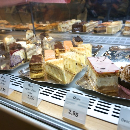cake aida display case vienna cafe