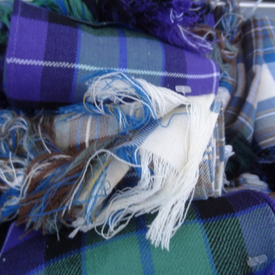 royal mile souvenirs cashmere scarves edinburgh scotland The variety of colors and plaids available at the Royal Mile shops was dizzying.