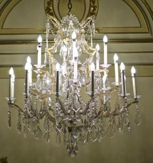 Hotel Imperial chandelier vienna austria lobby