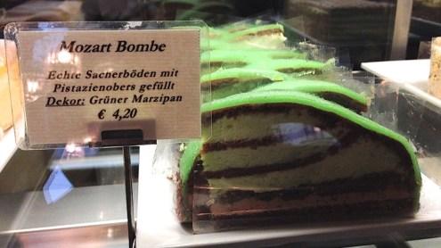 mozart bombe torte cake at Cafe Schwarzenberg, Vienna