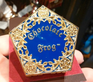 Chocolate Frog Hinged Pin with scented plastic frog inside