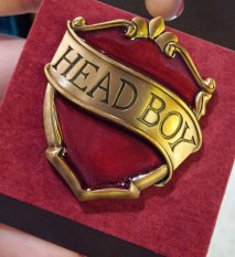 Head boy pin harry potter souvenir