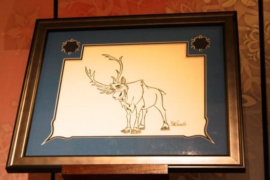 Reindeer from Frozen sketch gift