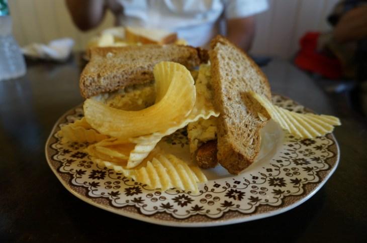 Fresh made sandwich at Annie's Gourmet in Lambertville.