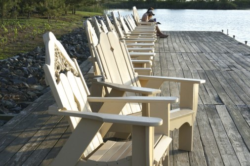 Adirondack chairs summer views