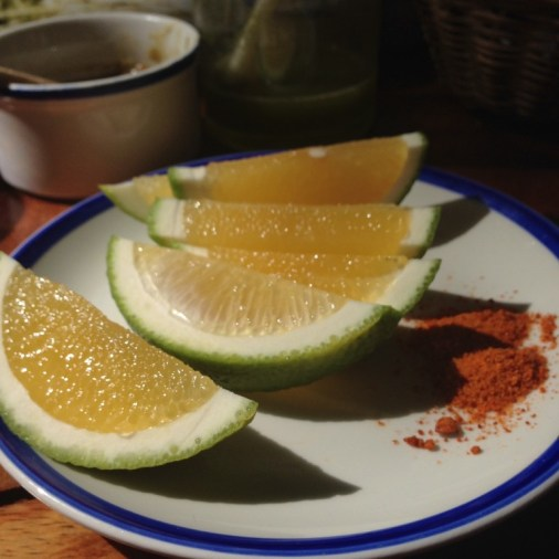 These juicy wedges may look like ordinary limes but are actually Mexican orange slices.