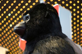 FAO Schwarz life-size gorilla stuffed animal. giant huge large big