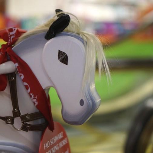 The classic FAO Schwarz rocking horse
