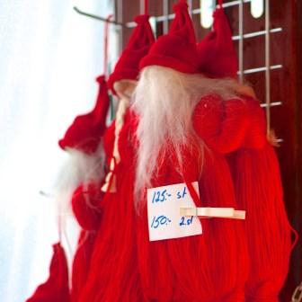 Stockholm Sweden Christmas Market Kungstradgården santa yarn decoration