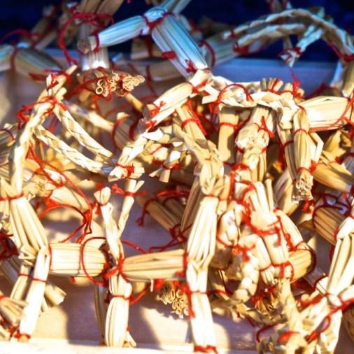 Stockholm Sweden Christmas Market Kungstradgården straw ornament
