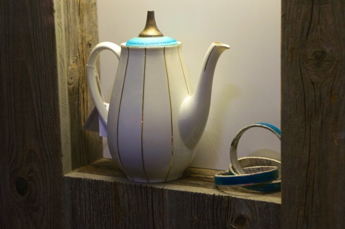 Loved this cofee pot in a Spittelberg shop window.