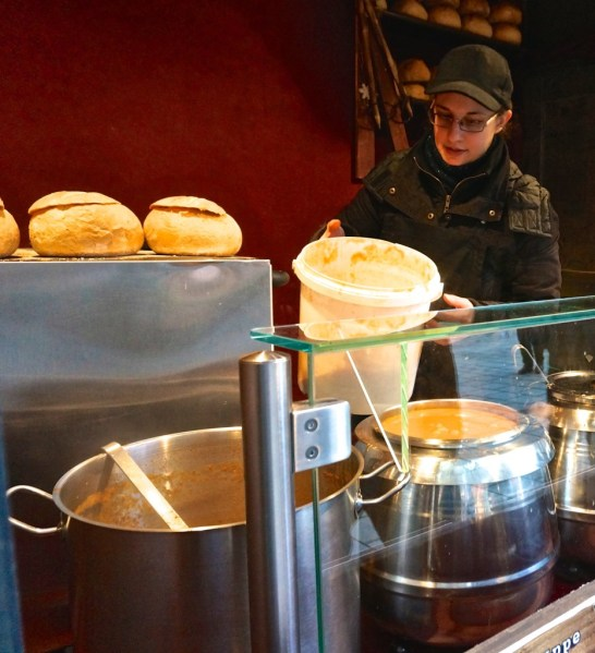 Vienna Austria stephansplatz vedor stall pumpkin soup