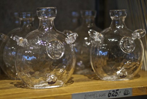 Hand-blown glass vessels (souvenir from Vasa Museum Gift Shop, Stockholm, Sweden).