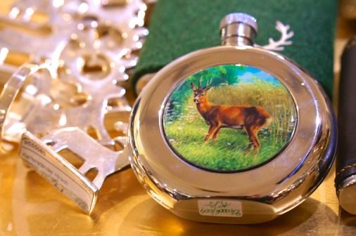 austrian souvenir stag on flask