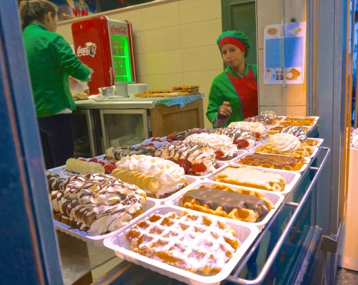 Belgian Waffles In Brussels