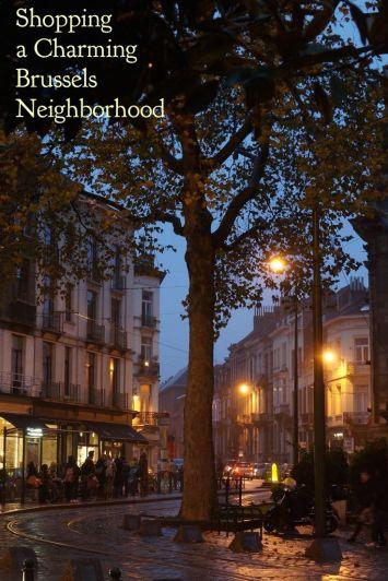 Brussel Belgium Chatelain Shopping Night