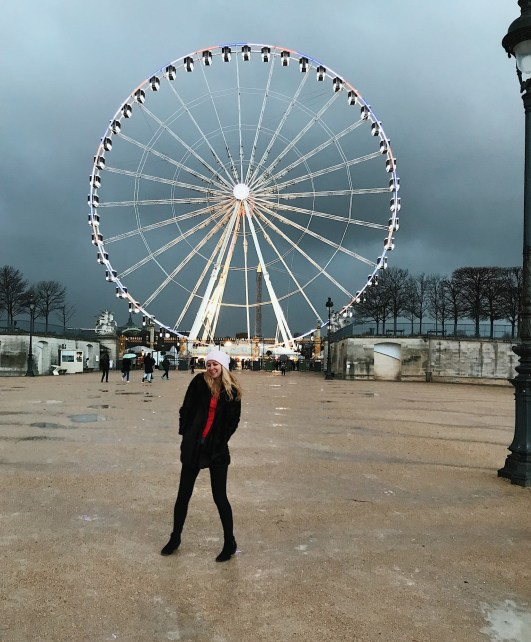 Place de la Concorde is magic even on a gloomy winter day.