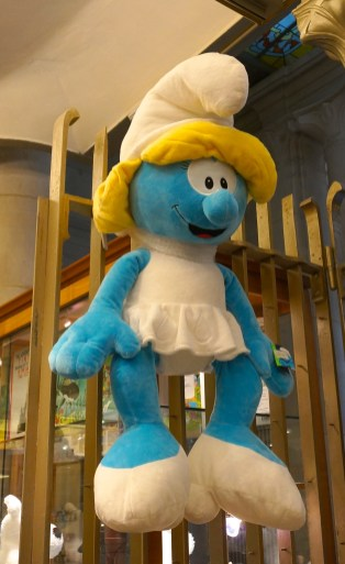 Comics Brussels Belgium Souvenir Shopping Plush Smurf