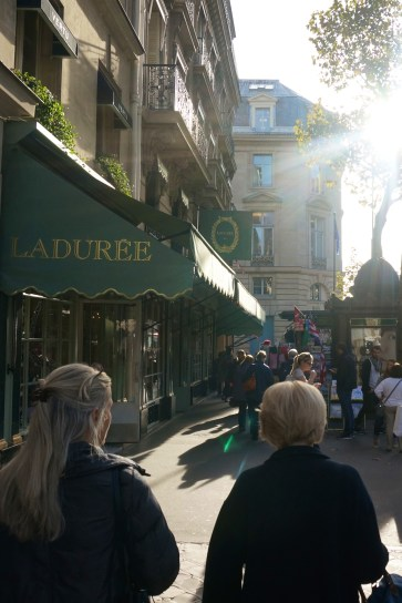 Visiting Laduree Paris macarons place de madelaine