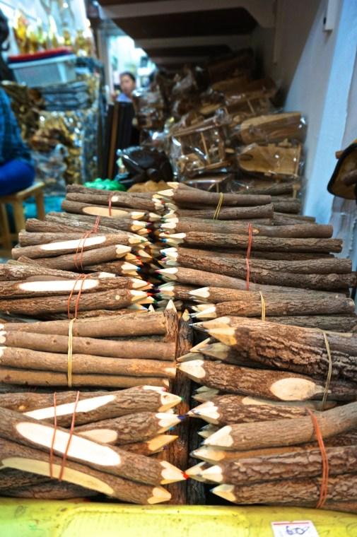 Best Thai Souvenirs Shopping Bangkok Jj Chatuchak Market Wooden Pens