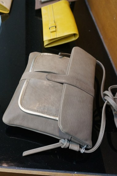 Grey Leather Handbag Handmade Marais Paris France