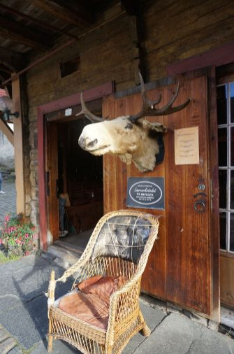 Just look for the moose head sign at Laeverstedet, Bryggen, bergen, Norway (moose leather)