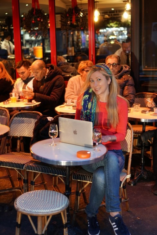 It was far more fun to catch up on work in the early evening at the cute cafe on the corner in Paris.