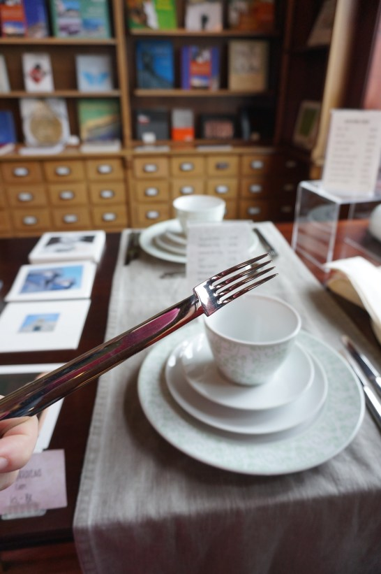 You can buy the art nouveau place settings at the visitor center
