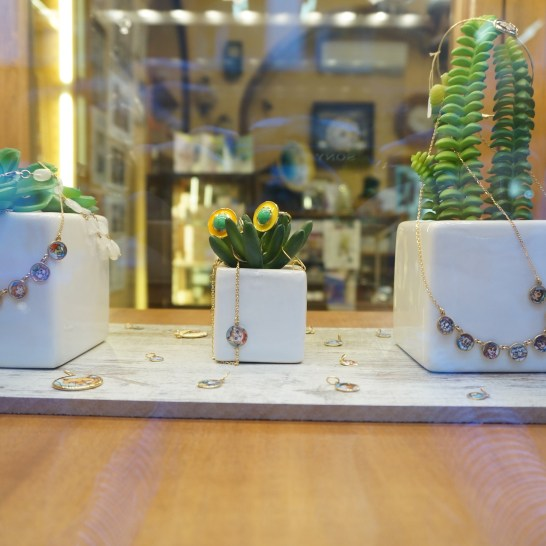 Locally-made jewelry in Milan.