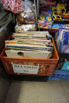 What I love about Economy candy is the utter randomness-- like this crate of vintage records at $5 a pop.