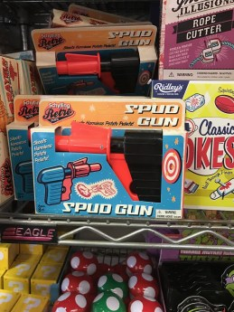 Yes I actually bought this spud gun which shoots potato pieces.