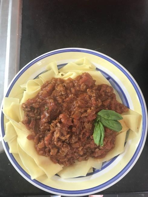 Bolognese made with my tomato paste souvenir