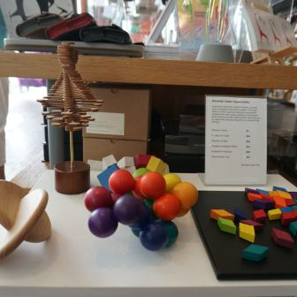 You'll find the expected offie desk toys here (Whitney Museum of American Art Gift Shop)