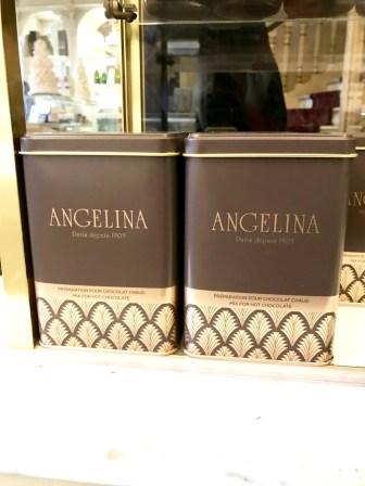Angelina Paris powdered hot chocolate mix take out souvenir