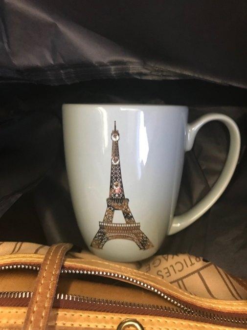 souvenir mug paris from airport