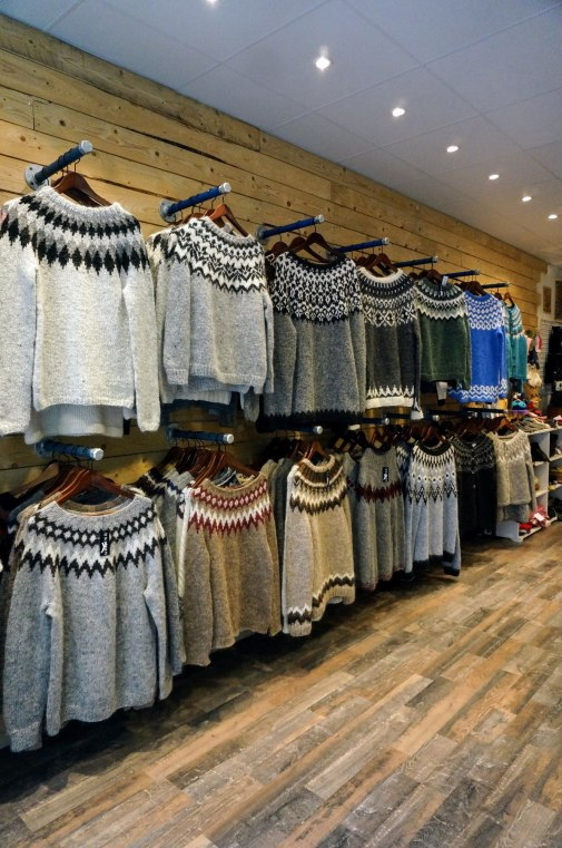 Traditional wool sweaters are great souvenirs.