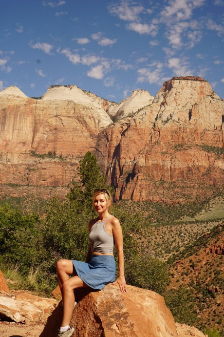 Zion national park scenic road instagram photos