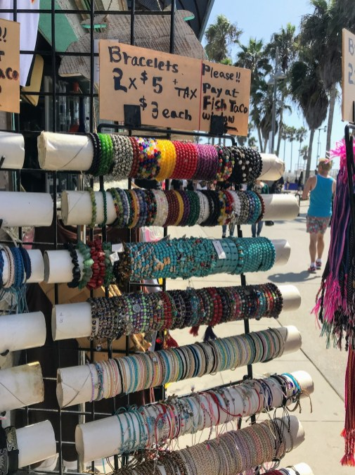 Souvenirs at Venice Beach. bracelets jewelry