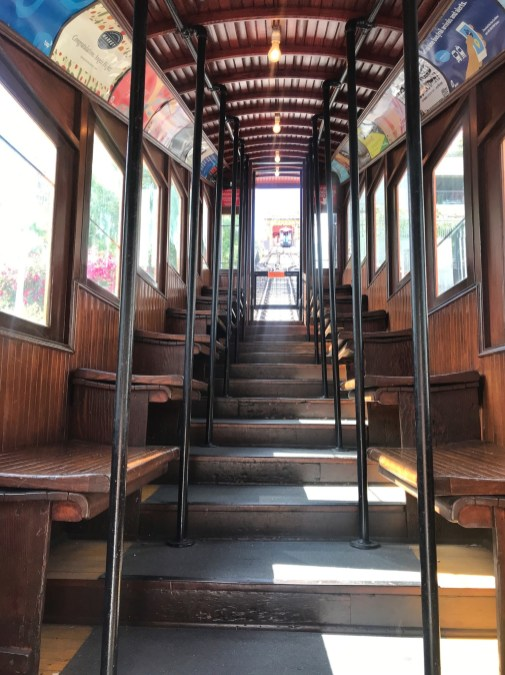 interior angels flight funicular train los angeles