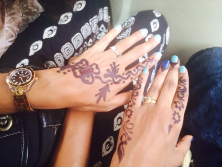 Weddings are a big deal in Sudan. One way that women (including guests) prepare for the event is by getting henna tattoos. In Sudan it is most common to see black henna instead of red.